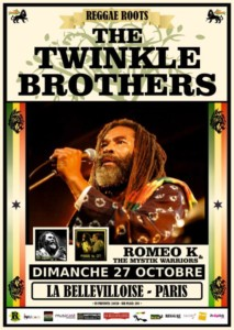 Oct. 27th, 2019 - Twinkle Brothers @ La Bellevilloise, Paris (France)